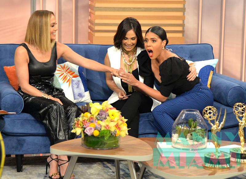 Jennifer Lopez Visits Despierta America show in Miami