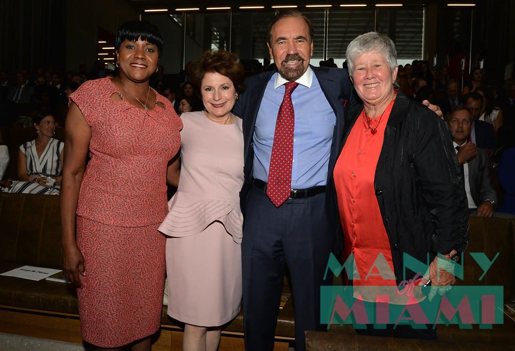 Commissioner Audrey Edmonson, Jorge Perez, Commissioner Sally Heyman