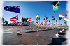 """Sept. 11 Memorial Flag Display at San Diego County Administration Building<br /> <br /> For more information go to  <a href=""""http://www.world-memorial.org"""">http://www.world-memorial.org</a>"""