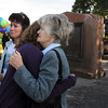 Siena Faughnan, 15, left, hugs her grandmother Joan Faughnan, with Siena's aunt Maureen Stines as they comfort each other at the 9/11 Memorial on Friday remembering Chris Faughnan who died in the World Trade Center attacks.  <br /> <br /> Sept. 11, 2009<br /> Staff photo/David R. Jennings