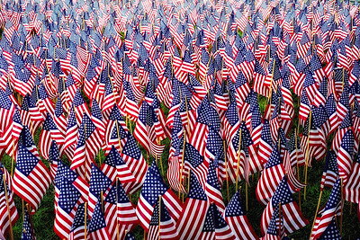 Field of FlagsThree thousand flags placed in Boston Public Garden to represent the 3,000 people that lost their lives on 9/11.