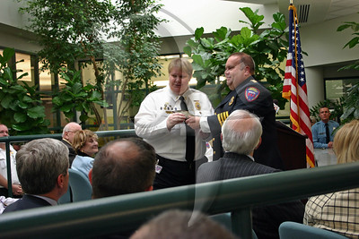 2010 Supervisor of the Year Marty Kester receives her award.