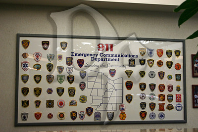A collection of patches from the agencies served by the Monroe County ECD/911 Center.