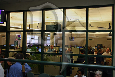View of the operations floor from the atrium.