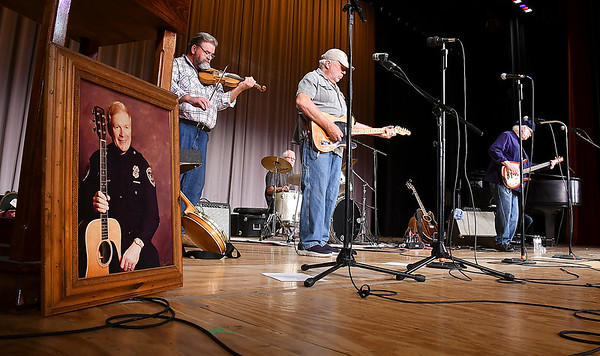 The Cops & Robbers Band played a set of songs in tribute to one of the founding members, John Gunter during The 30th Little Bit Country Jamboree.