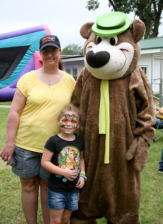 Linda Swann, Madison Shumaker, & Yogi Bear