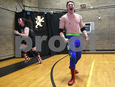 Tag Team Broken Keith and Hunter Dude Preston enter the arena for Unleashed, presented by League of Lions Professional Wrestling in association with Jericho Tours Of Tyler Saturday Sept. 3, 2016 at Early College High School in Tyler. The professional wrestling event included both local and international wrestlers.    (Sarah A. Miller/Tyler Morning Telegraph)