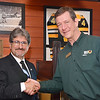 State Representative Stephen DiNatale is greeted by Ninety Nine Restaurant & Pub General Manager JP Seedorff at the grand re-opening on Thursday afternoon. The restaurant was closed for renovations from Sunday, June 15th – Wednesday, June 18th. As part of the Grand Re-Opening celebration, the Ninety Nine donated $1,000 to the Boys & Girls Club of Fitchburg and Leominster. SENTINEL & ENTERPRISE / Ashley Green
