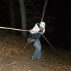 coming back up the rope