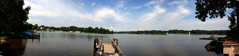 Panorama of lake Louisa from the Sheads' lakeside estate.