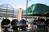 Here are some of the grills supplying the heat for Boog Powell's BBQ