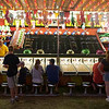 Record-Eagle/Douglas Tesner<br /> The midway at the Northwestern Michigan Fair drew crowds each evening during the weeklong event.