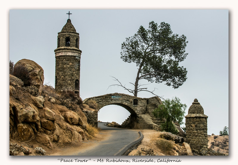 Day 30, Peace Tower, Mt. Rubidoux.  Riverside, California