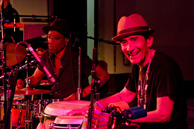 Two of the three percussionists: Chico Perez in the foreground with Stan Kipper