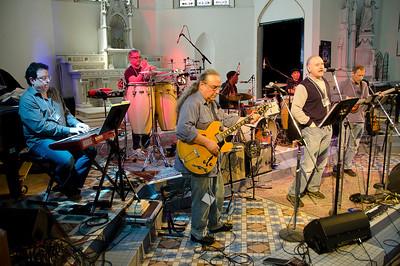 Afternoon rehearsal with Matt Fink, Ralph Dacut, Billy Hallquist, Stan Kipper, Chico Perez, Arne Fogel, and Gary Lopac