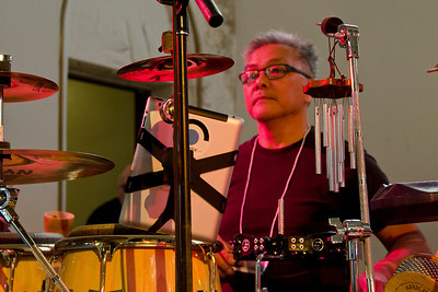 Ralph Dacut, one of 3 percussionists