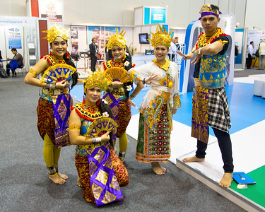 Balinese (I think) dancers enliven the exhibit hall.