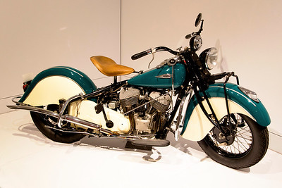"""A Classic: The Indian """"Chief"""" Motorcycle.  These were built from 1922 until 1953."""