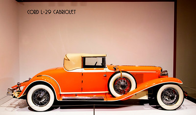 The Cord L-29 Cabriolet -- 8 cylinder in-line engine