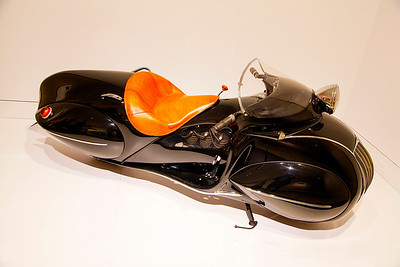 A KJ streamlined motorcycle