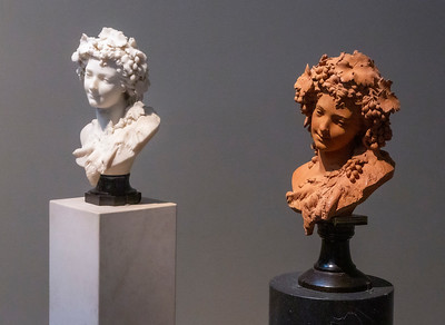 Albert-Ernest Carrier-Belleuse: Two Busts of Bacchantes
