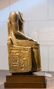 Egyptian Monumental Statue of the Pharaoh Ramesses II Enthroned