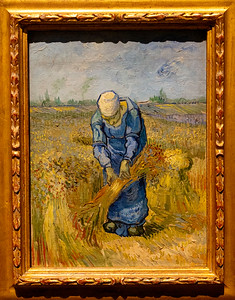 van Gogh: Peasant Woman Binding Sheaves (after Millet)