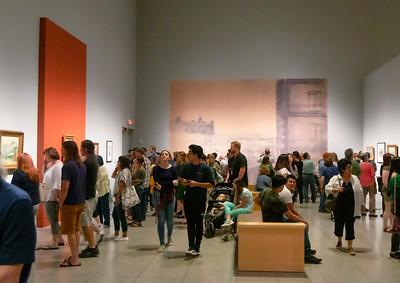 Vistors at the van Gogh exhibit
