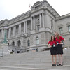 Lauren and I on the steps of the Library of Congress.