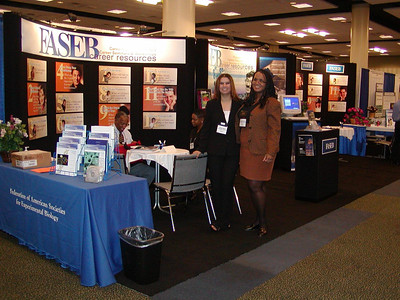 FASEB MARC Booth at ABRCMS 2004 - Cheryl and Jacquie