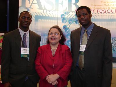 Dr. Amal Abu-Shakra and students/mentees, John Sesay and Melvin Oputa of North Carolina Central University.