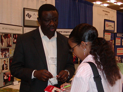 Visitor at ASPET's booth - ABRCMS 2004