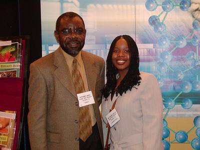 Dr. Anthony Madu and his student mentee, Matseliso Moloi (Virginia Union University) - FASEB MARC travel award recipients for ABRCMS 2004 meeting