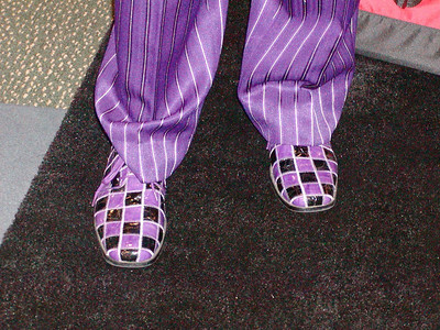 Dr. Landefeld's color coordinated shoes