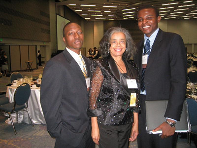 Dr. Sandra Murray with her two University of Pittsburgh undergraduate students/mentees (Mr. Quentin Smith and Mr. Adam Iddriss.)