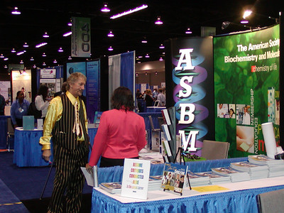 Dr. Thomas Landefeld and Mrs. Gail Pinder at the ASBMB booth.
