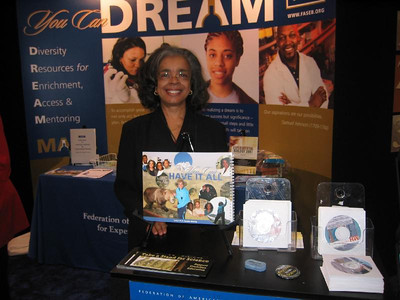"Dr. Sandra Murray poses with her MARC Program Calendar Page ... ""You Can Have It All.""   She's Dr. January 2008!!"