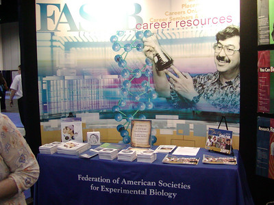 FASEB/MARC Booth at ABRF 2007 in Tampa, Florida.