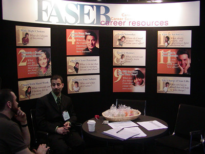 FASEB/MARC Booth at ABRF 2007 in Tampa, Florida. Eric Celidonio provides career counseling services and resume critiques during the ABRF 2007 meeting.