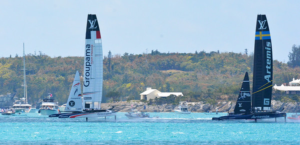 28-May Race 1 Matchup - Team France/Groupama vs Sweden/Artemis. Artemis is the odds-on favorite.