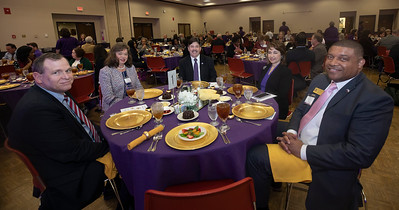 Jim Purcell, State Higher Education Executive Officer, Alabama Commission on Higher Education, President Dr. Glenda Cologross, Northwest Shoals Community College, President Dr. Ken Kitts, University of North Alabama,  Dena Kitts, Ron Patterson