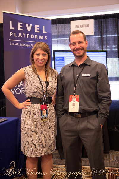 Jeff & Nadia at the Level Platforms Booth