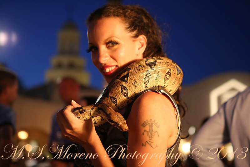 "The ""Snake Girl"" at Autotask Community Live 2013"
