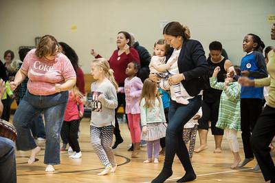 African Dance Class by Charlotte Ballet @ 1st Baptist Church West 1-28-17 by Jon Strayhorn