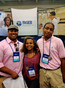 FASEB MARC Travel Award Winners:  Darius Legrear, Apu Seyenkulo and Gavin Irby, students at Winston-Salem University