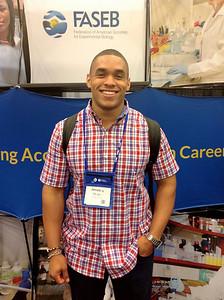 FASEB MARC Travel Award Winner:  Joshua Pavon, student at the Kennesaw State University