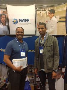 FASEB MARC Travel Award Winners:  Dr. Vernon Bond (faculty) and Donte Pennington (graduate student) at Howard University