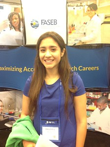 FASEB MARC Travel Award Winner:  Brianna Lopez, student at University of Texas at El Paso