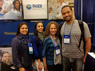 FASEB MARC Travel Award Winners:  Francheska Mojica, Martin Rosario and two colleagues, students at the University of Puerto Rico, Medical Sciences Campus