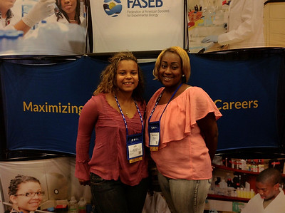 FASEB MARC Travel Award Winners:  Apu Seyenkulo and Rachell Hood, students at Winston-Salem State  University